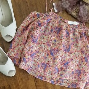 [LF] Millau two Tier Floral Crop Top Size S